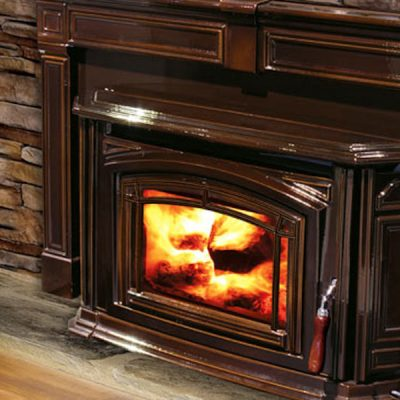 Enviro Boston 1200 Enamel Wood Burning Insert Installed Kemptville Ontario