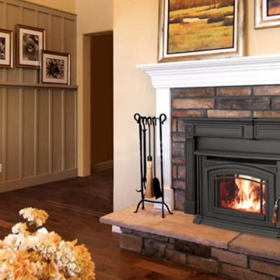 Enviro Boston 1700 Cast Iron Wood Fireplace Insert Installed Stittsville Ontario