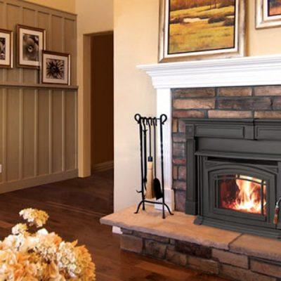 Enviro Boston 1700 Cast Iron Wood Fireplace Insert Installed Stittsville Ontario