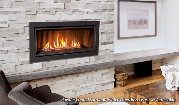 Enviro C34 Linear Gas Fireplace Top Hat Home Comfort