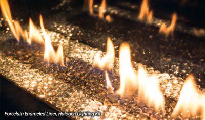 Enviro C44 Glass Burner Linear Gas Fireplace Store | Ottawa Orleans