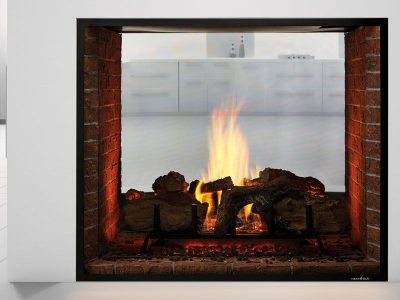 Heat & Glo | Escape See-Through 2-Sided Propane Gas Fireplace Installation Manotick Ontario