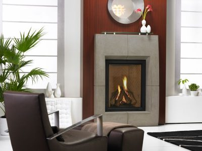 Heat & Glo | Everest Gas Fireplace | Vertical Gas Fireplace Design | Installed Fireplace Prices | Ottawa Fireplace Contractor