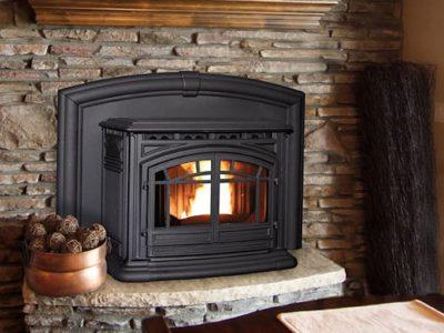 Enviro M55 Cast Iron Wood Pellet Fireplace Insert Installation Ottawa Carleton