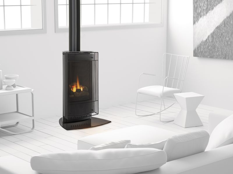 Heat glo paloma modern gas stove buy in ottawa or for Modern gas fireplace price