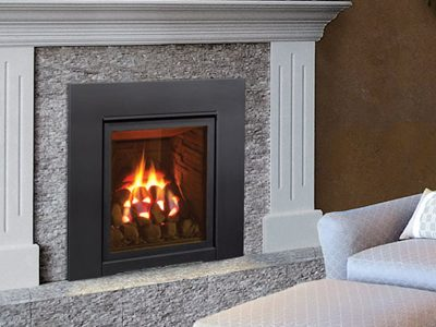 Buy the Enviro Q1 Portrait Gas Fireplace Insert Ottawa