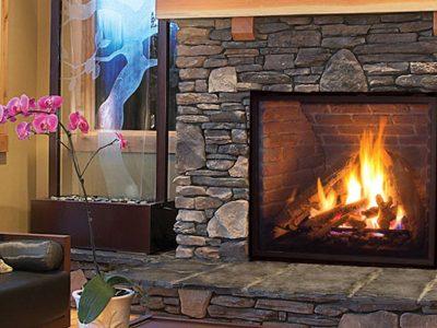 Enviro Q4 Stone Gas Fireplace Installation Ottawa