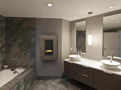 "Heat & Glo REVO-Vertical 12"" Gas Fireplace   Wall Hung Gas Fireplaces   Financing Fireplace Installation Cost Ottawa Fireplace"