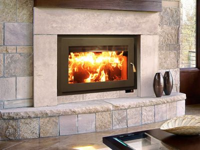 RSF Focus 320 Modern Wood Burning Fireplace | Ottawa | Manotick Ontario