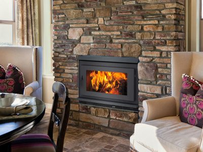 Pacific Energy FP30 EPA Rated Wood Burning Fireplace Install Manotick Ontario