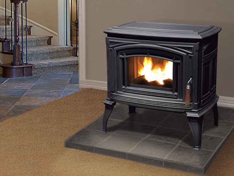 Enviro Meridian Cast Iron Pellet Stove Top Hat Home