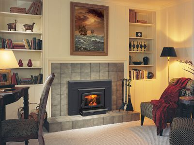 Pacific Energy Vista Small Wood Fireplace Insert Installed | Ottawa | Manotick