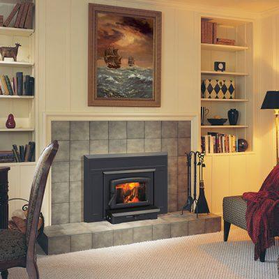 Pacific Energy Vista Small Wood Fireplace Insert Installed | Ottawa | Manotick